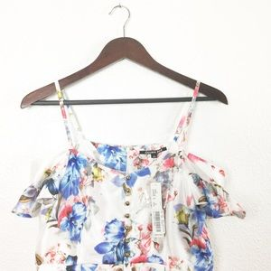 NWT Gianni Bini Leslie Floral Cold Shoulder Dress